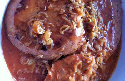 Jambon poêlé et sauce marjolaine Dukan