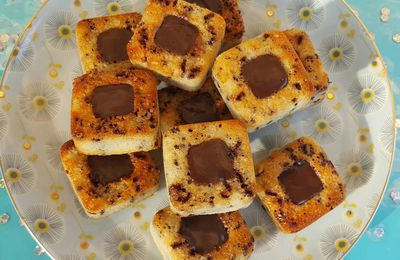 Mini financiers tigrés cœur choco carambar