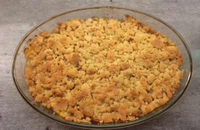 Crumble pêches / abricots