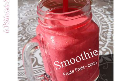Smoothie fruits rouges & coco
