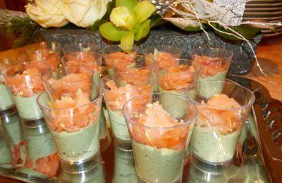 Verrines Avocat-Saumon fumé