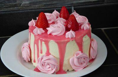 Layer Cake fraise et chantilly