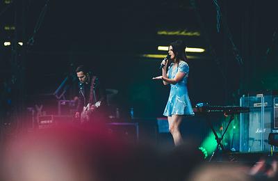 Lana Del Rey au festival Lollapalooza à Paris, France. (23.07.2017)