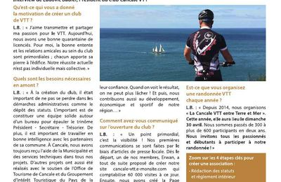 News du club Cancale VTT