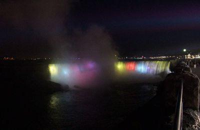Les Chutes du Niagara en fin de journée !