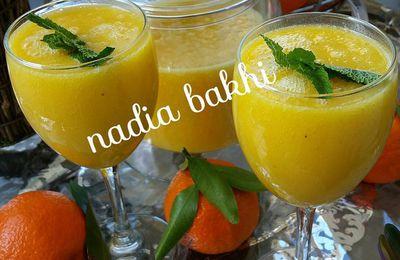 Smoothie mangue, banane,orange
