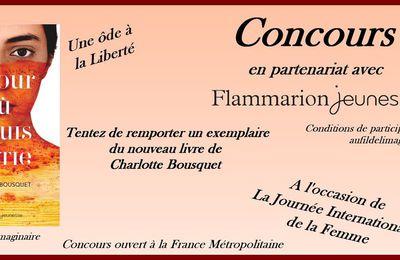 Concours : Le jour ou je suis partie - Charlotte Bousquet - Flammarion Jeunesse