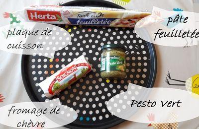 ♥ Recette facile : Couronne Pesto et Chèvre ♥