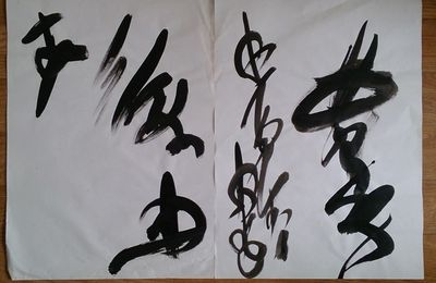Calligraphies abstraites  de 2005