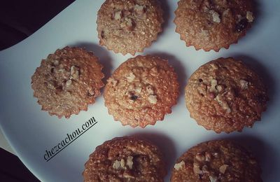 Muffins light aux cranberries et noix