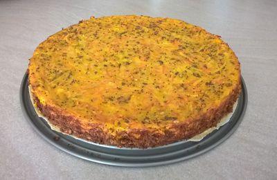 Gâteau salé pommes de terres, carottes et graines