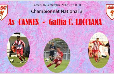Championnat . As Cannes - Gallia C. Lucciana