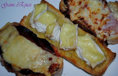 Trio de Tartines gourmandes