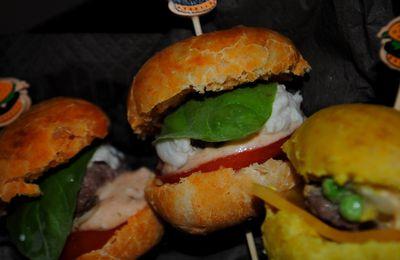 Mini-burgers à l'Italienne & à l'Indienne