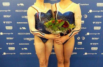 Championnats d'Europe GAF : Morgane Osyssek et Lorette Charpy rayonnent