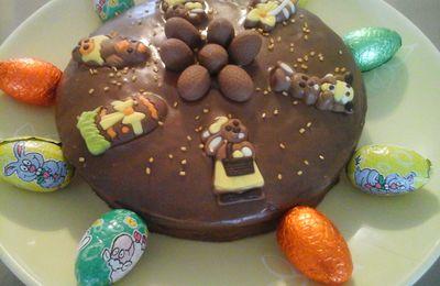 Gâteau de Pâques au chocolat et praliné