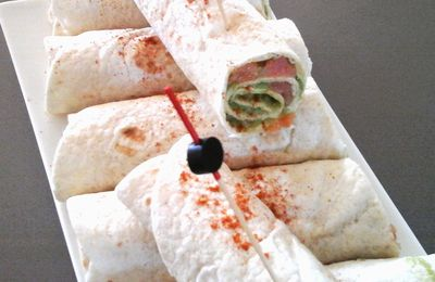 Wraps avocat saumon