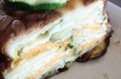 Gâteau invisible courgettes mimolette
