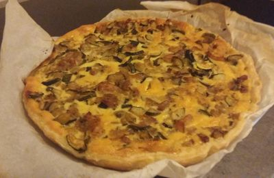 Quiche tomates courgette fromage