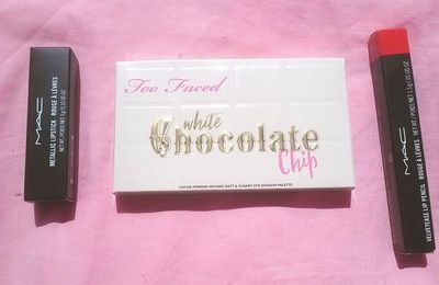 Too Faced, White Chocolate Chip et MAC, Love's A Gamble