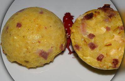 Gâteau de pommes de terre, lardons et kiri