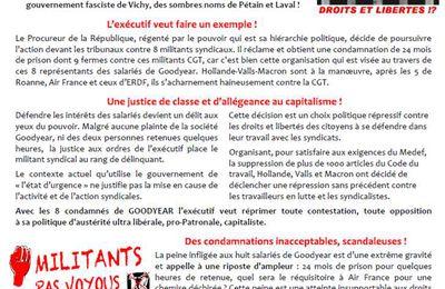 #Goodyear - Soutien aux syndicalistes