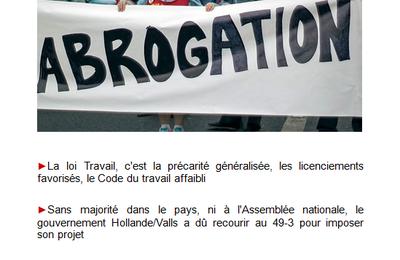 Loi Travail : abrogation !