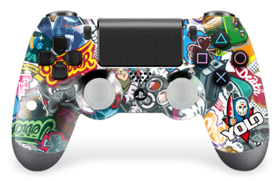 Manette PS4 Graphiti Burn controllers
