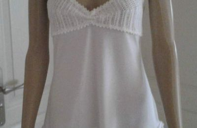 Ensemble lingerie blanc nuisette et string