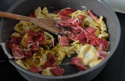 Les raviolis colombo et jambon sec, simples et efficaces !