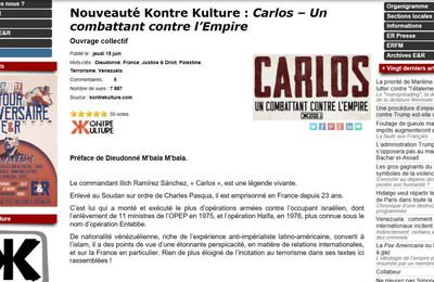 Quand E.R fait la promotion du criminel anti-occident Carlos