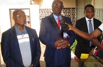 CENTRAFRIQUE : Ousmane Doré, le nouveau Directeur général de la BAD pour l'Afrique centrale, en visite de travail à Bnagui