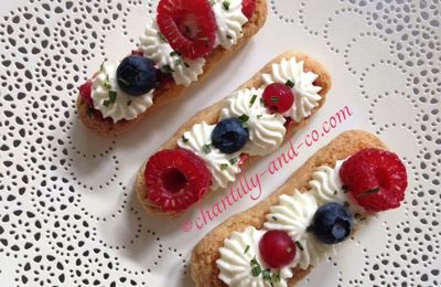 Mini éclair fruits rouges