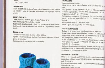 modèle gratuit chaussons bébé