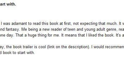 First English review for POWERFUL !