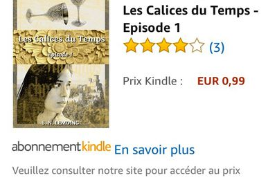 LES CALICES DU TEMPS - Page Amazon
