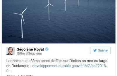 Lancement du troisième appel d'offres éolien en mer au large de Dunkerque