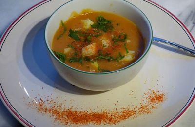 Soupe de carottes légèrement épicée