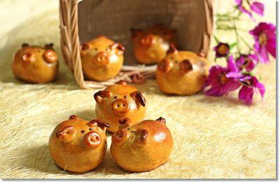 Tự làm bánh trung thu heo con nhân dừa thơm ngon ngộ nghĩnh
