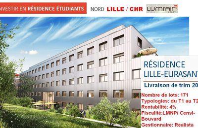 Lille (59000) – Résidence étudiants Lumi'Air Study Lille CHR Eurasanté