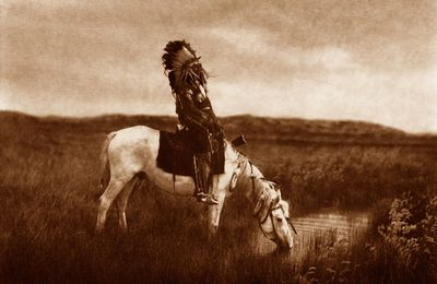 USA. Edward S. Curtis  photographe.