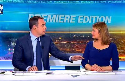 Bourdin Direct sur BFM TV: Agacé par le retard d'Henri Guaino, Jean-Jacques Bourdin annule l'interview.