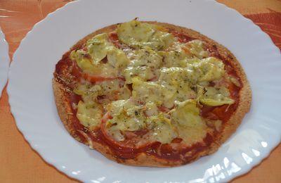 Pizza tortilla aux artichauts