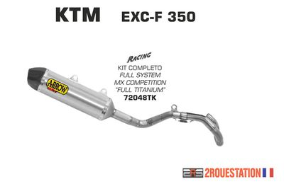 POT D'ECHAPPEMENT ARROW KTM EXC-F 350 2017