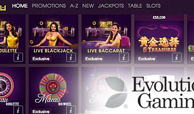Les nouvelles tables de baccara en direct de Evolution Gaming