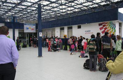Passage de frontière entre l'Equateur et la Colombie