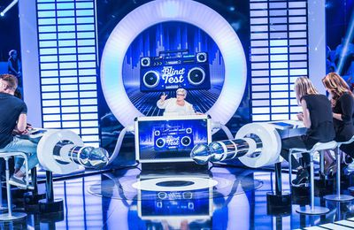 """Le grand blind test"" : Laurence Boccolini reçoit Eve Angeli, Cartman..."