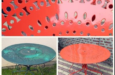 Table / Salon de jardin / Paprika