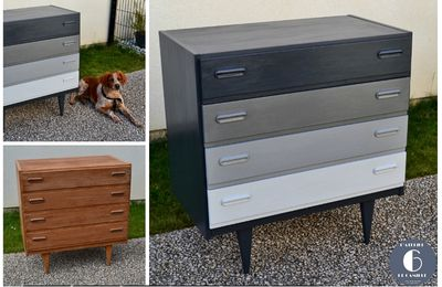 COMMODE SCANDINAVE / GRIS DEGRADE