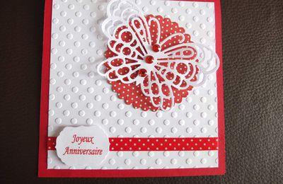 SCRAP Une nouvelle carte Papillon joyeux anniversaire